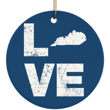 Love Kentucky Love Symbol Kentucky Apparel Gift Christmas Ornament