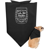 GetKentuckified Dog Bandana Bourbon Barrel Love Kentucky