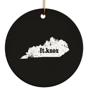 Ft. Knox Kentucky City Town Kentucky Native Christmas Ornament - getkentuckified