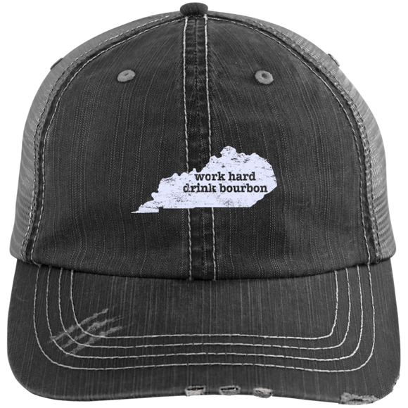 Work Hard Drink Bourbon Hat Kentucky Hat