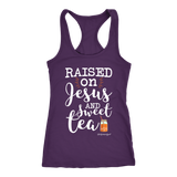Cute Kentucky Raised On Jesus And Sweet Tea Shirt Get Kentuckified Premium Shirt - getkentuckified