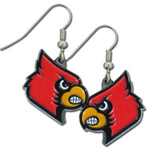 Louisville Cardinals Dangle Earrings UL Jewelry FREE SHIPPING WITH CODE ULFREESHIPPING
