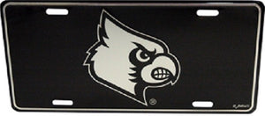 Louisville Cardinals Elite Black and Silver Auto License Plate FREE SHIPPING WITH CODE ULFREESHIP