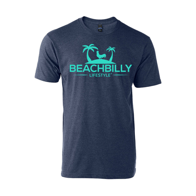 Beachbilly Original - Heather Navy with Teal
