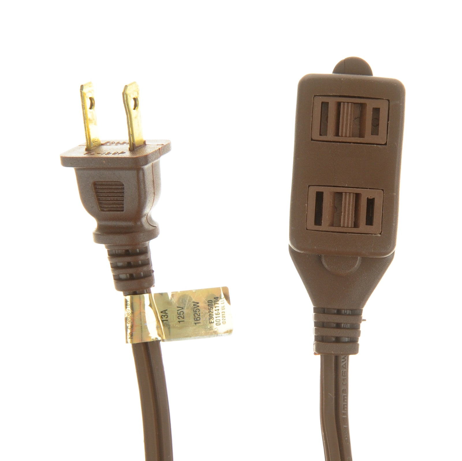 Viasonic Indoor Extension Cord - 2-Pack - 16 Gauge - 2 Prong - 3-Outlet - UL-Listed