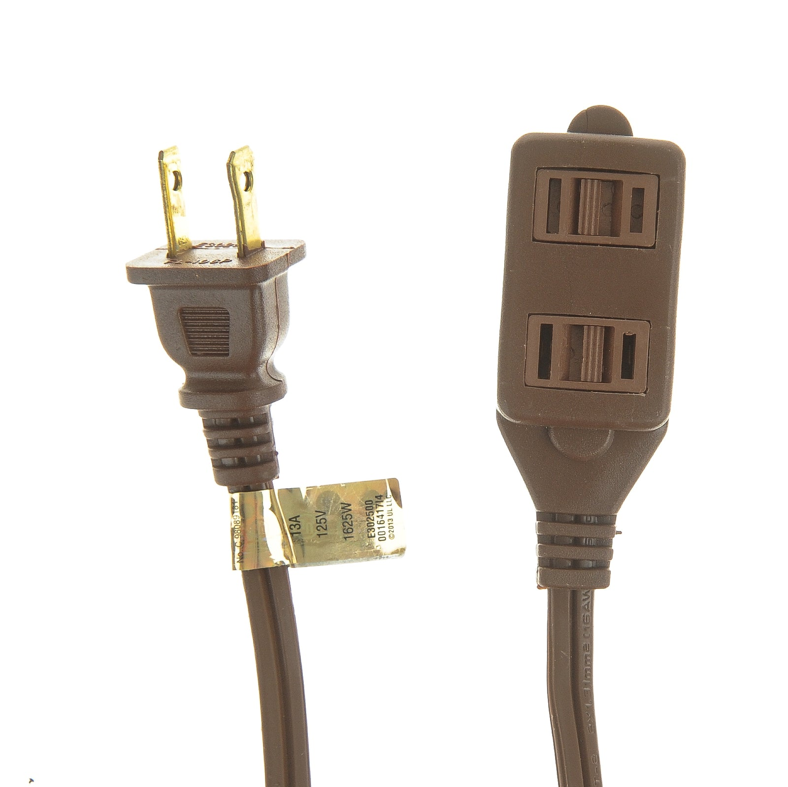 Viasonic Indoor Extension Cord - 16 Gauge - 2 Prong - 3-Outlet - UL-Listed