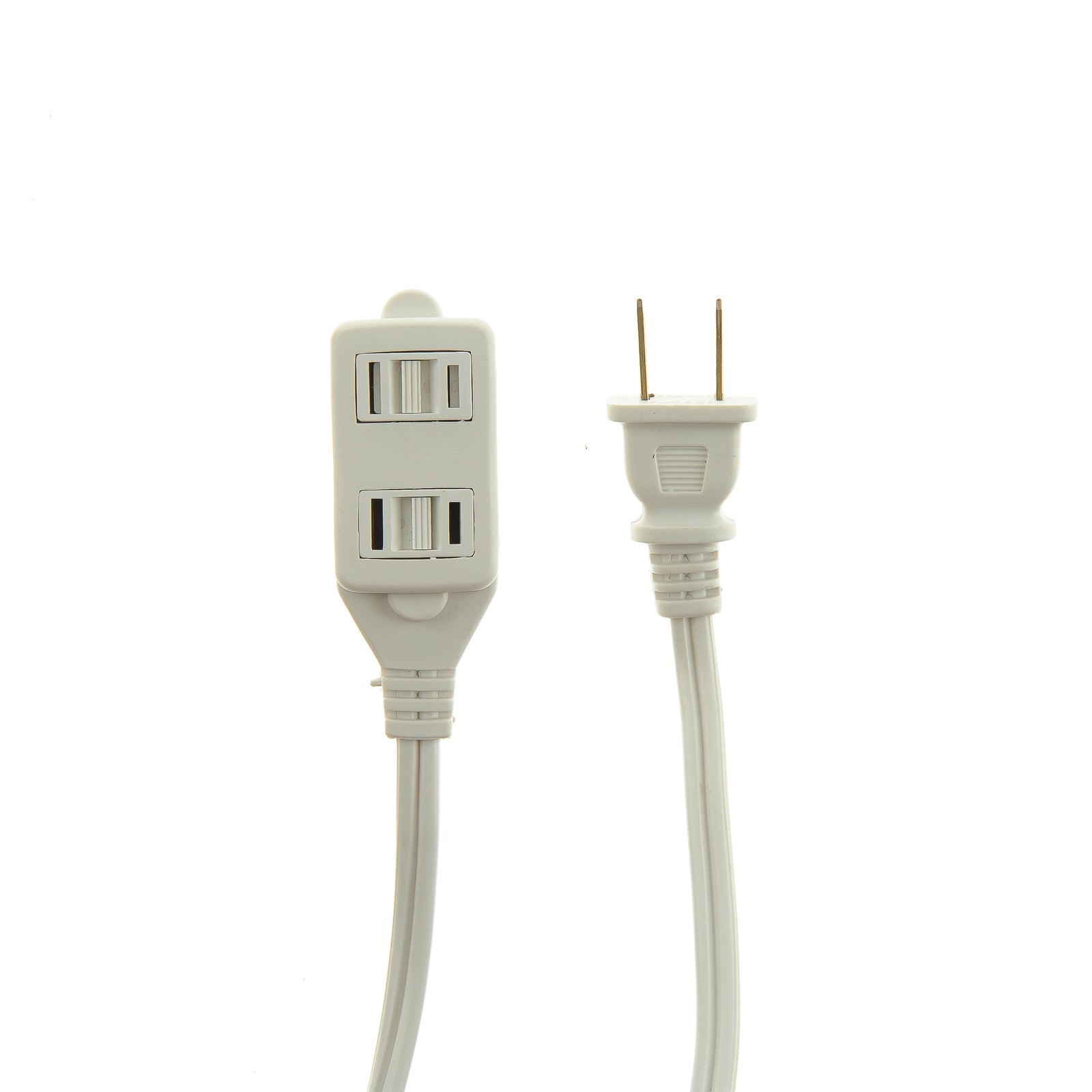Viasonic Indoor Extension Cord 2 Pack 12ft 16 Gauge Flexible Prong Vs 3 Outlets Outlet Ul