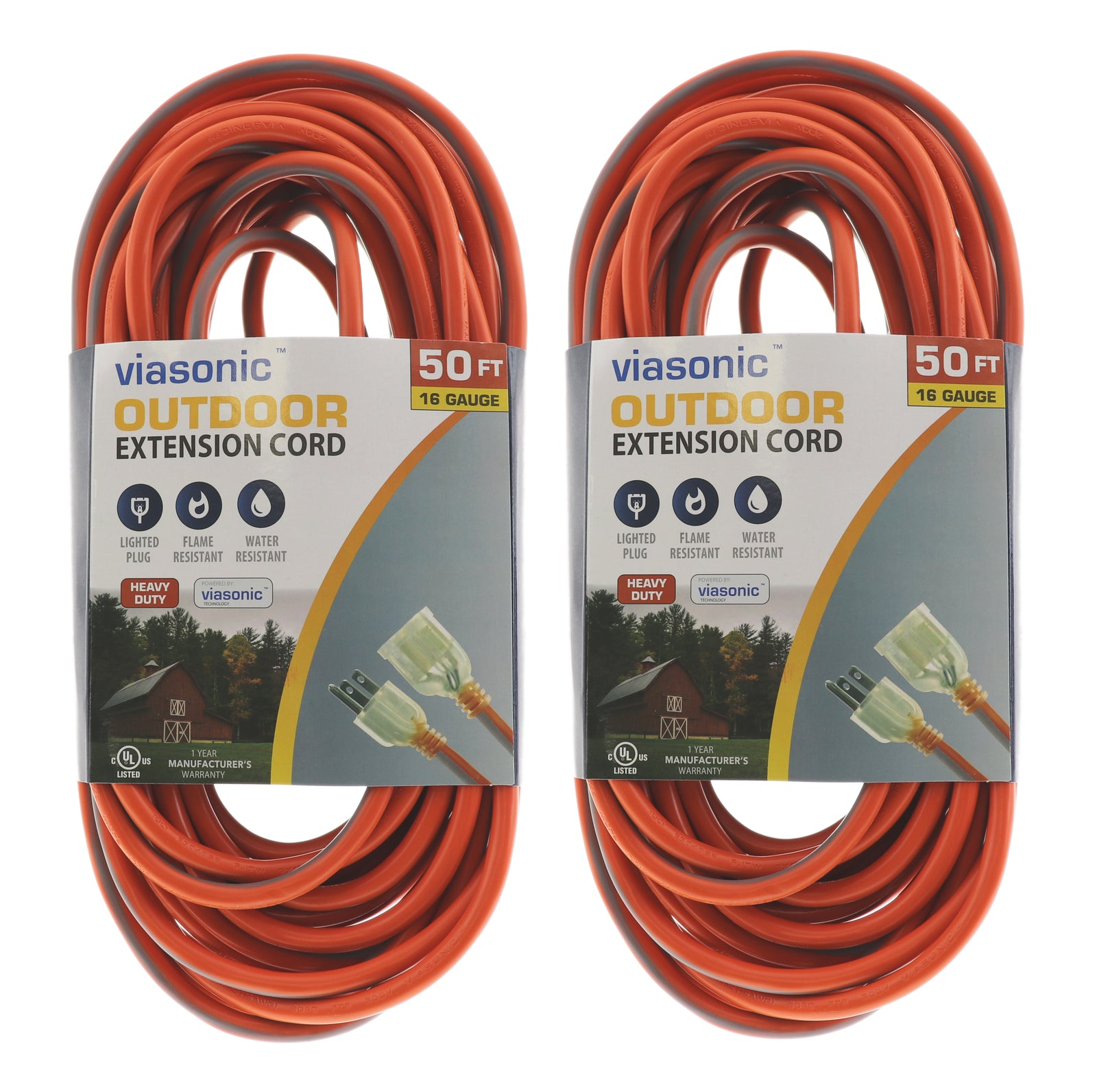 50FT SJTW 16-Gauge 3-Prong Plug - Outdoor Cord