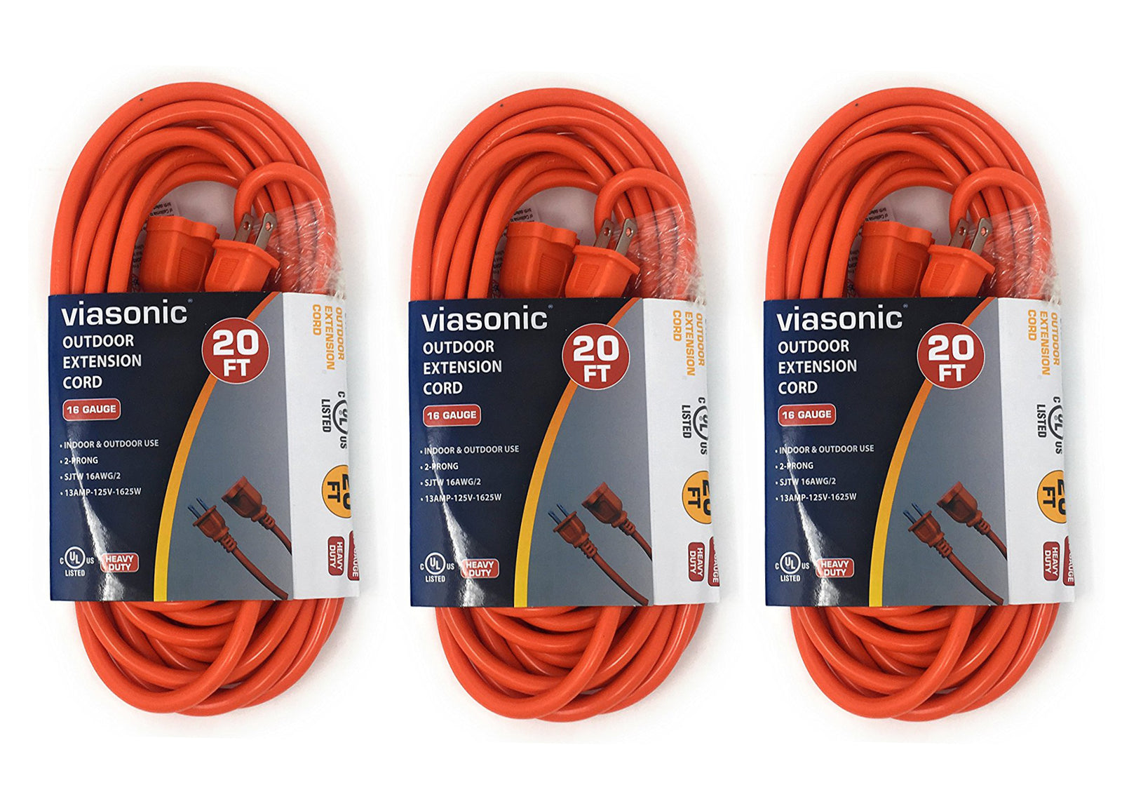 20FT SJTW 16-Gauge 2-Prong Plug - Indoor/Outdoor Cord
