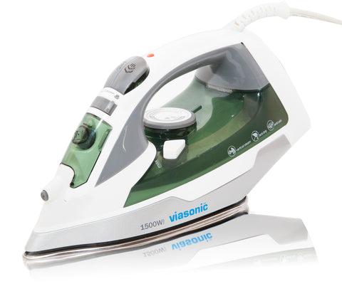 1600W Steam Iron - Auto-Off, Anti-Drip & Self Cleaning - Premium S.S. Soleplate-ETL Listed