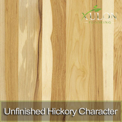 Unfinished Hickory Character Solid Hardwood