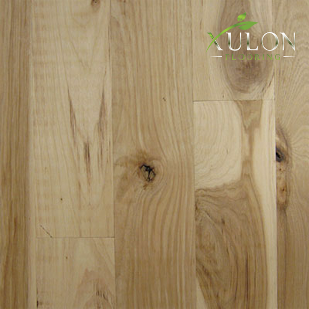 "Unfinished Hickory-Character 4"" Wide-3/4"" thick-Plank Solid Hardwood"