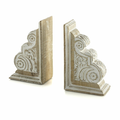 ELYSIUM BOOK ENDS, WHITE