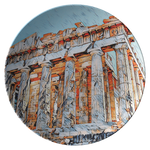 Bright Parthenon Plate