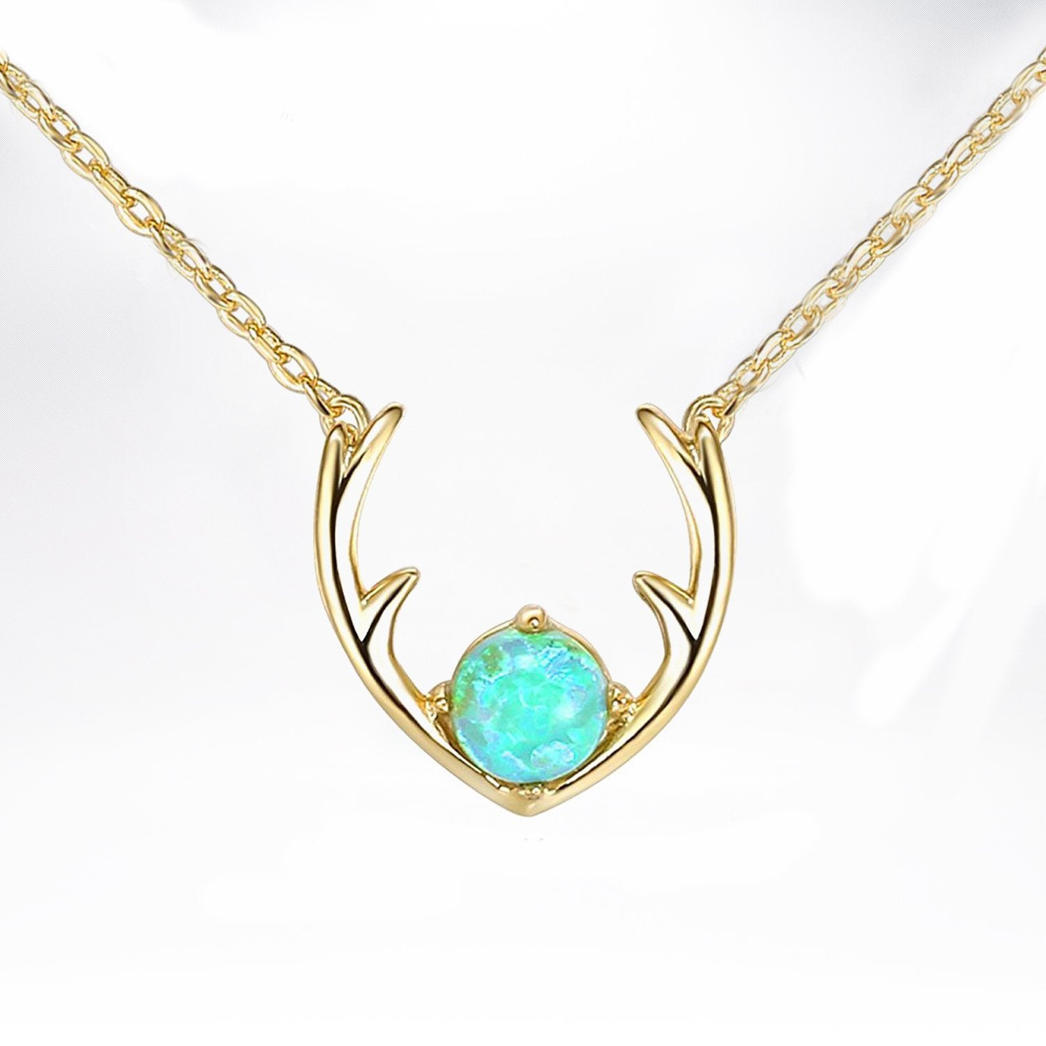 Opal Antlers Necklace