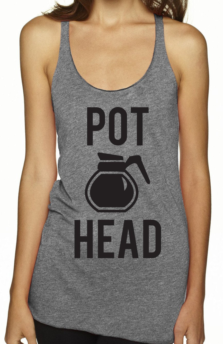 POT HEAD Coffee Tank Top
