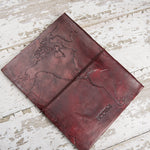 World Map Handmade Leather Journal