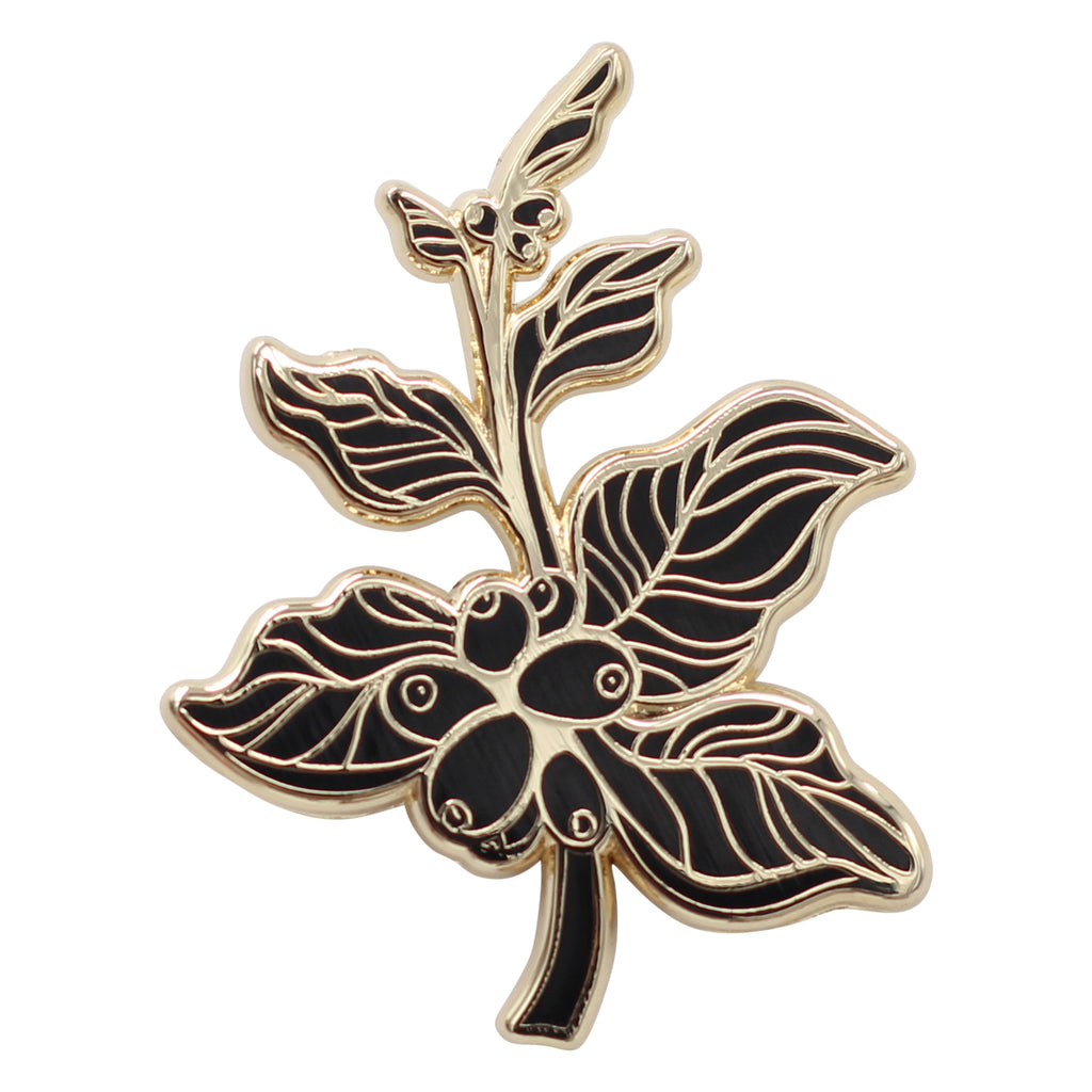 Coffee Berry – Coffee Branch Lapel Pin Enamel Pin