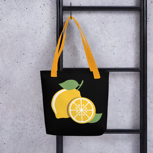 Lucky Lemons on Black Tote bag