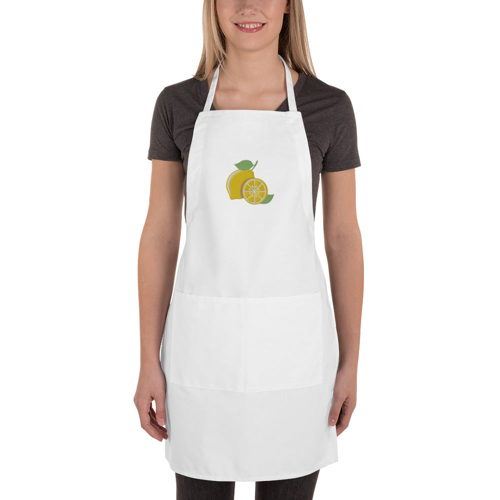 Lucky Lemons Embroidered Apron