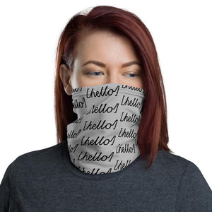 """hello"" All-Over Print Neck Gaiter"