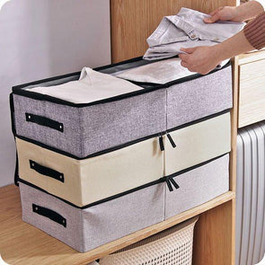 120L Washable Multifunctiona Transparent Shoe Box Underwear Cotton Linen Storage Box