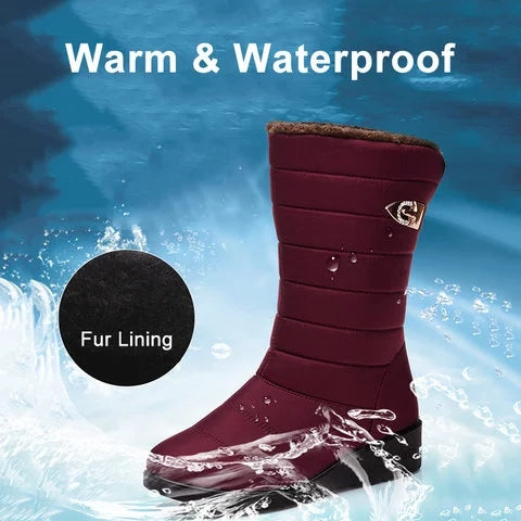 Winter Waterproof Non Slip Breathable Snow Boots