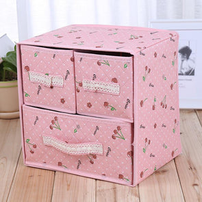 Three Layer Storage Box Five Drawer Non-woven Underwear Sundries Organizer