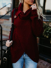 Round Neck Split Sweater For Women