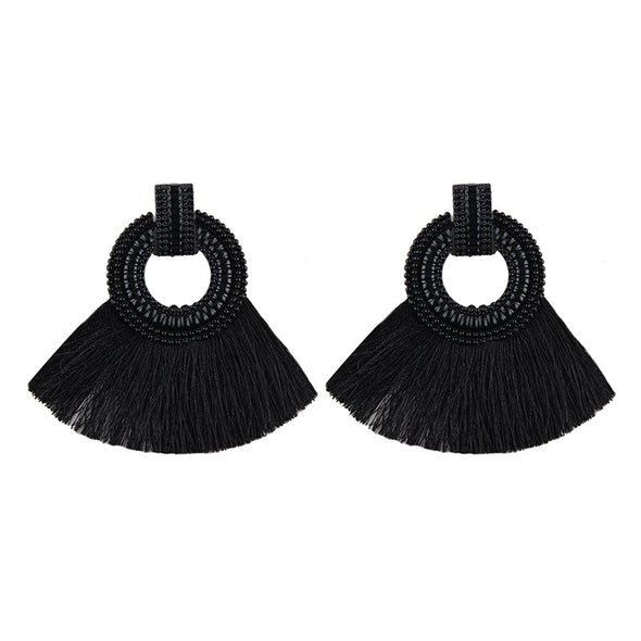 Alloy Paint Tassel Earrings