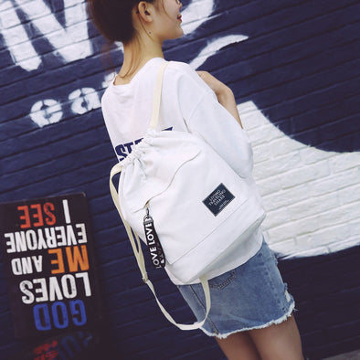 Original Fresh Art Canvas Portable Backpack Bag