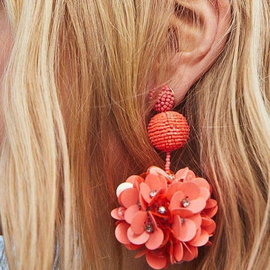 Womens Resin Flowers Earrings