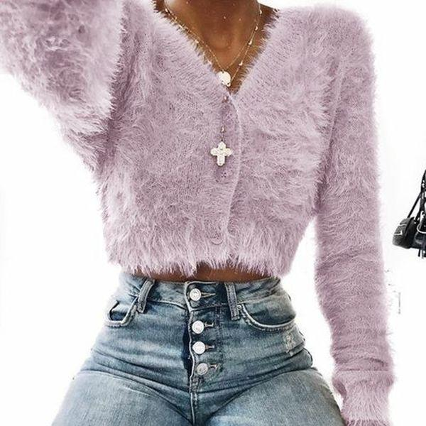 Women Casual Warm Teddy Fur Coat Jacket Tops Long Sleeve Overcoat Pullover
