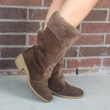 Casual Warm Faux Fur Suede Chunky Heel Boots