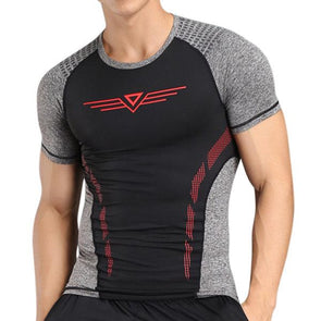 Quick-drying Skinny Fit Tops Fitness Training Jogging Sport T-shirt