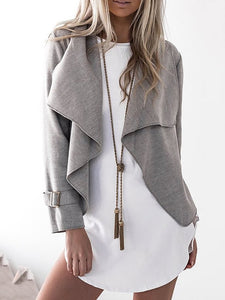 Shawl Collar Wool Long Sleeve Paneled Cotton Chic Cardigan