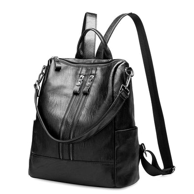 Leather Handbags Large Capacity Travel Backpack