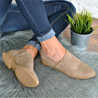 Women PU Sandals Simple Comfort Classic Slip On Shoes