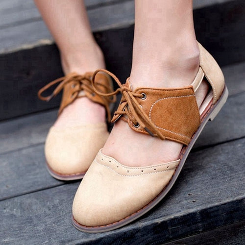 Women Flat Spring Summer Sandals Lace-up Shoes
