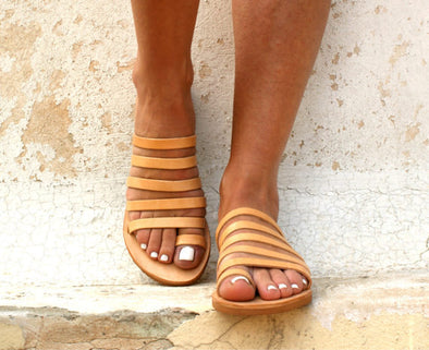 1532befed1f Ancient Greek Leather Sandals Strappy Sandals Roman Sandals – ZoeMiss