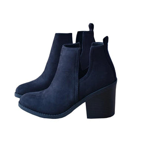 Ankle Pointed Chunky Boots
