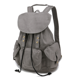 High Quality Canvas Large-Capacity Drawstring Travel Laptop Backpack School Bag For Women
