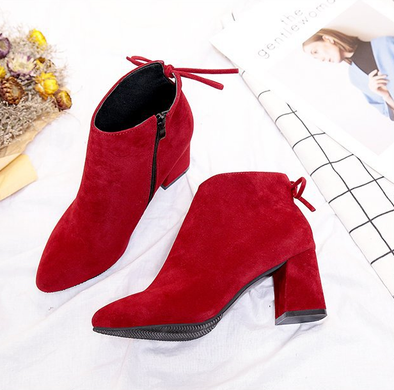 c3768db6010 Large Size(35-45) Suede Zipper Boots Chunky Heels Shoes – ZoeMiss