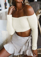 Autumn Fashion Long Sleeved Off Shoulder Sexy Sweater