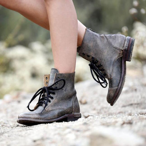Stylish Vintage Lace Up Boot