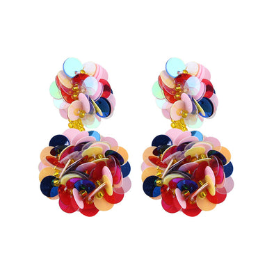 Fashion Small Sequin Flowers Earrings
