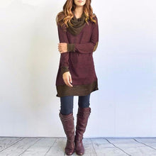 Casual Long Sleeve Stitching Pullover Tops