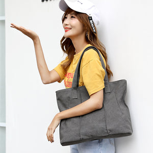 Canvas Portable Bags Large Capacity  Leisure Shoulder Bag Handbag