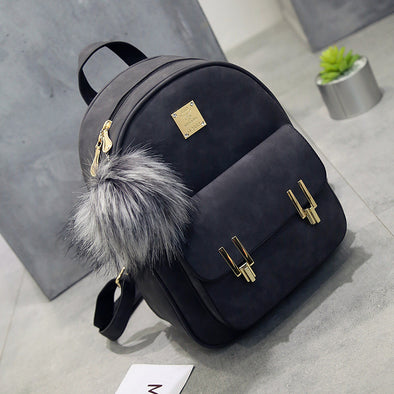 Fashion Frosted PU Zippered School Bag With Metal Lock Match ... 8881e12e0b1fd