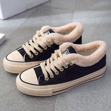 Womens Platform Canvas Snow Sneakers